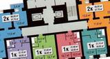 1-комнатная квартира, 39 кв.м., 16/16 этаж, новостройка
